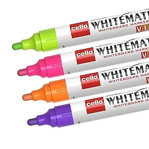 Whiteboard Marker;Whitemate;Vivid;Cello;Whiteboard;Vivid ink Marker;Colourful;New colours;Bright;Fun