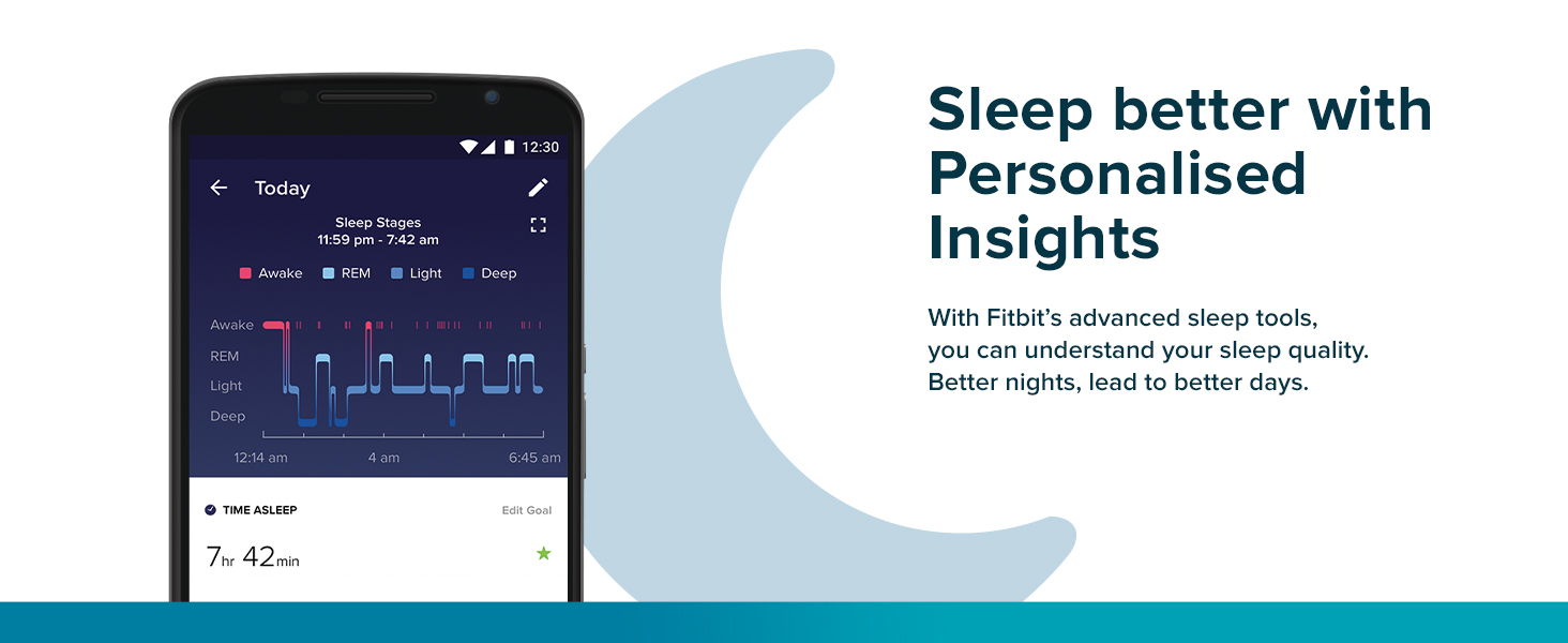 Fitbit Charge 4 - Sleep better with Personalised Insights