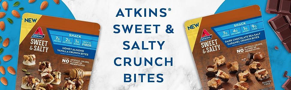 keto friendly sweet salty low carb snack bites crunch bites chocolate almond salt gluten free