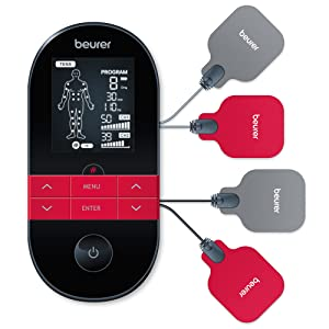 beurer em 59 tens ems värmemassage apparat digital nervstimulering muskelstimulering elektrisk