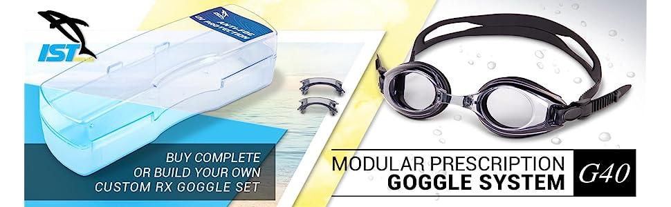 991243baec09 IST RX prescription swim Goggle with Optical Corrective UV ...