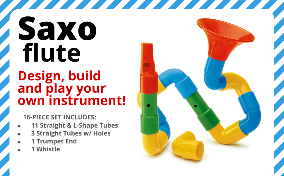 Quercetti, STEM, STEAM, Toys, Saxoflute, Music, Building, Toy, Kids, Toddlers, Learning