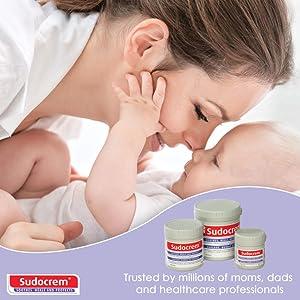 sudocrem diaper rash cream soothes heals protects baby bum infant newborn child toddler zinc cream