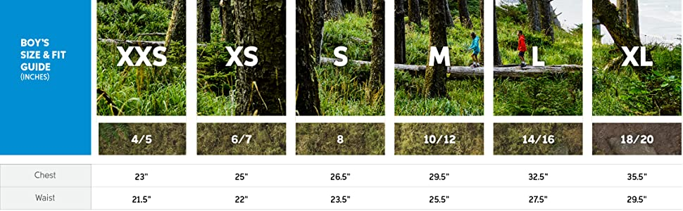 Kids vest size and fit guide