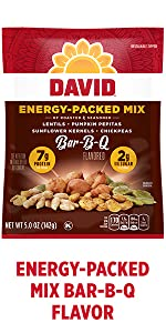 DAVIDs energy boosting plant based snack – BBQ Flavor
