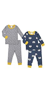 Organic 2 Pack 2-Piece Cotton Pjs
