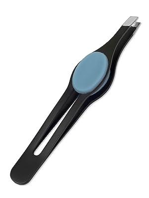 refine wide grip slant tip tweezers Italy cushioned pad grip comfort hold eyebrow tweeze pluck face