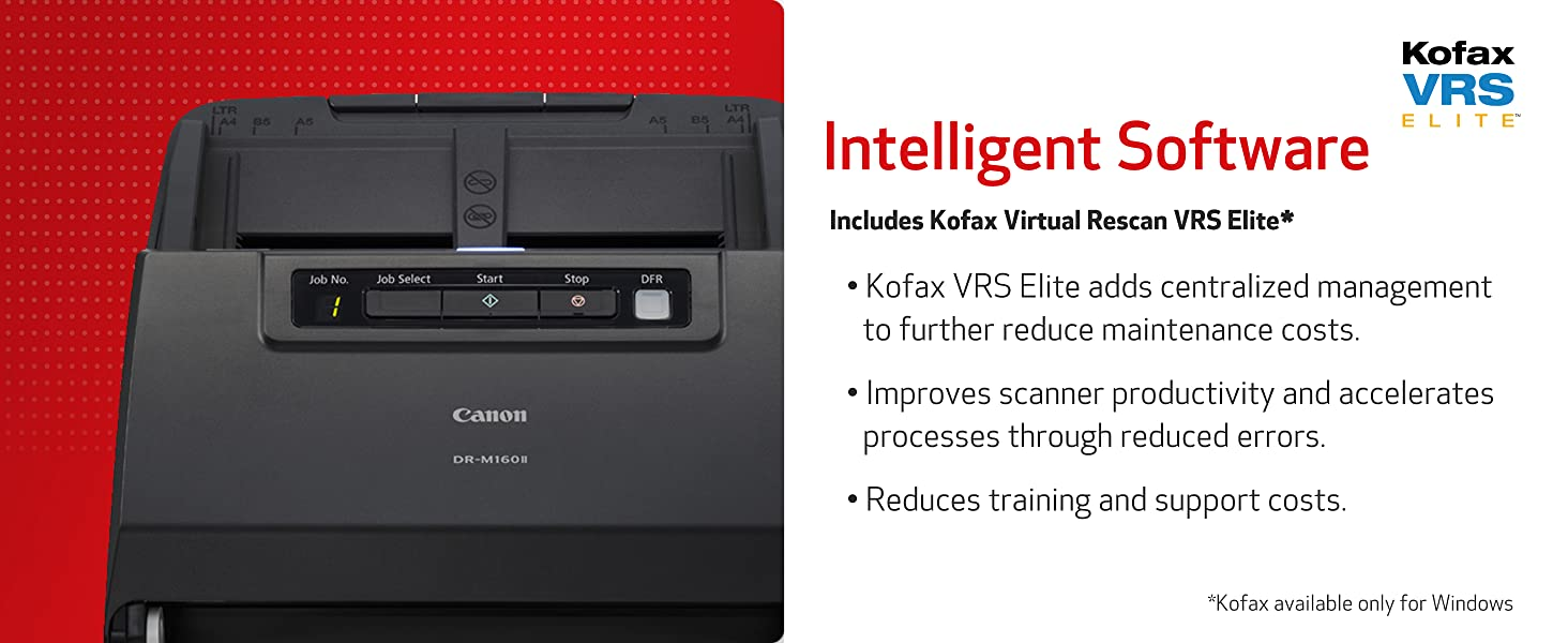 software kofax scanner scan canon intelligent VRS elite includes