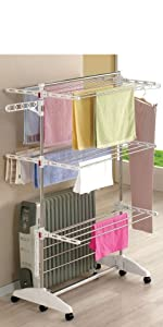 One Click Luxus clothes dryer, Clothes horse tower: Amazon.co.uk: Kitchen &  Home
