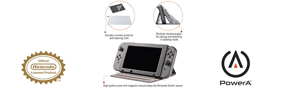 PowerA - Funda protectora con soporte incorporado (Nintendo Switch): Amazon.es: Videojuegos