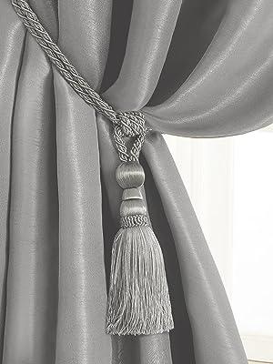 Cord 75cm Tassel 29cm Tan Bronze Tassels Tie Holder XL Curtains Holder M