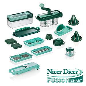 genius nicer dicer fusion smart 23 teile inkl nicer twist bekannt aus tv neu. Black Bedroom Furniture Sets. Home Design Ideas