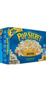 butter, popcorn, kernels, microwave popcorn, movie theater butter, sea salt popcorn, pop secret