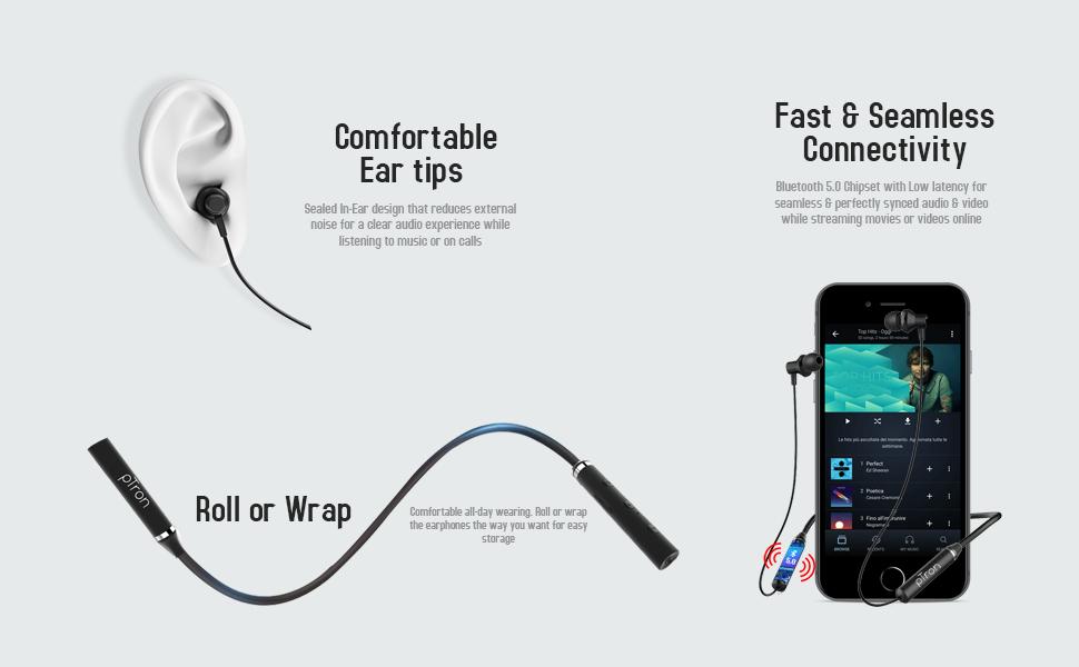 In ear wireless headset with mic