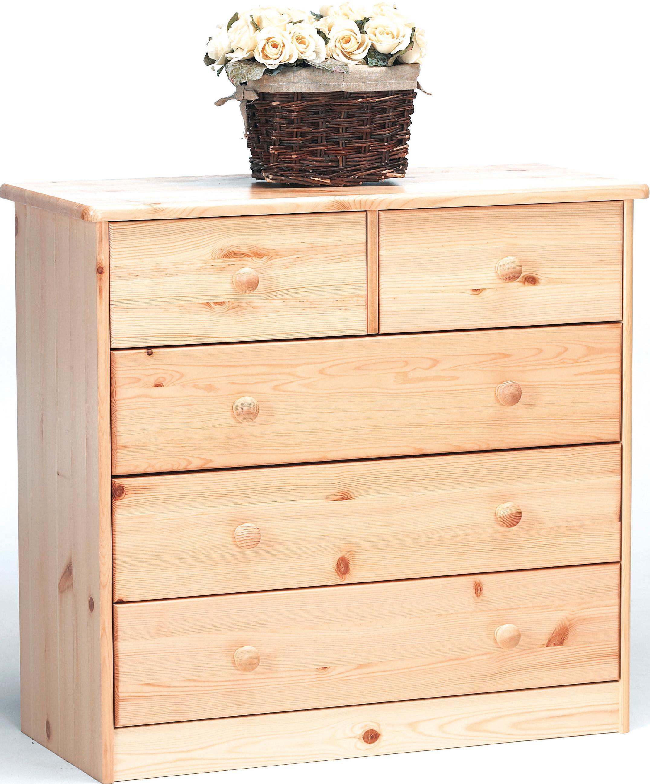 kommode sideboard anrichte kiefer natur 2 3 schubladen k che haushalt. Black Bedroom Furniture Sets. Home Design Ideas