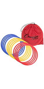 Champion Sports Agility Speed Ring Training Set