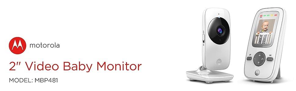 Motorola MBP481 2.4 GHz Digital Video Baby Monitor