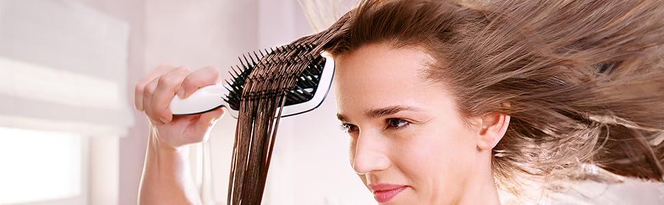 Haare glatt fohnen mit tangle teezer
