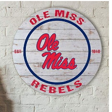 Mississippi Rebels Classic Weathered Circle Sign