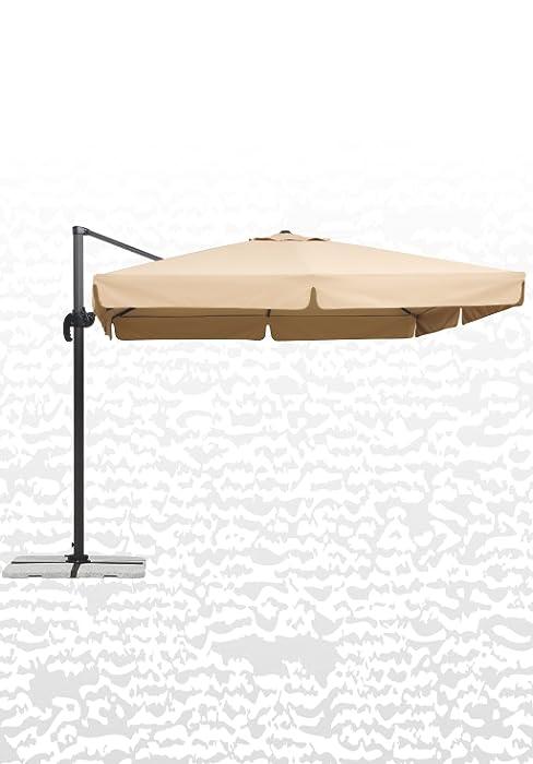 schneider sonnenschirm rhodos junior rosa berry 270x270 cm quadratisch gestell. Black Bedroom Furniture Sets. Home Design Ideas