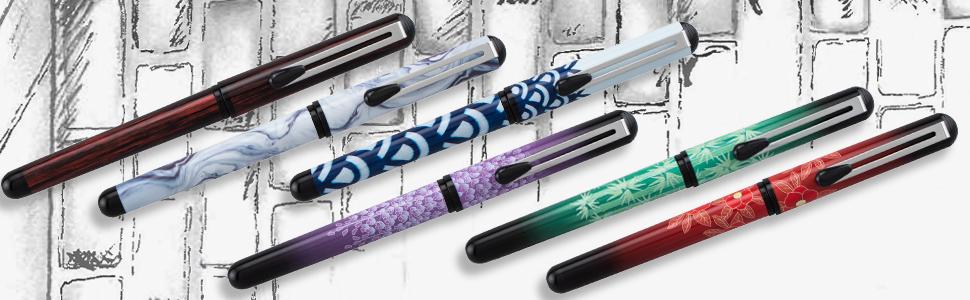 pentel, brush, pocket, ink, pen, special