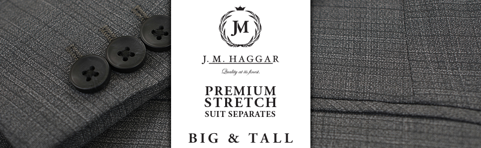 Midnight 54R Haggar Mens Big and Tall B/&T Active Series Stretch Classic Fit Suit Separate Coat
