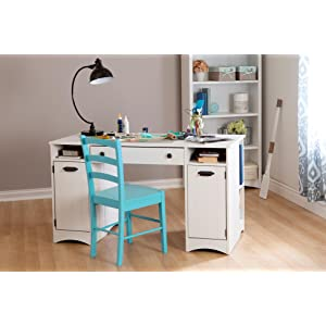 Incroyable South Shore Artwork Craft Table With Storage