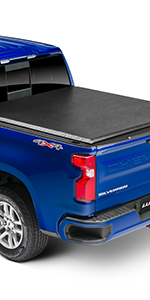 Amazon Com Lund Genesis Elite Tri Fold Soft Folding Truck Bed Tonneau Cover 958172 Fits 2015 2020 Ford F 150 5 7 Bed 67 1 Automotive