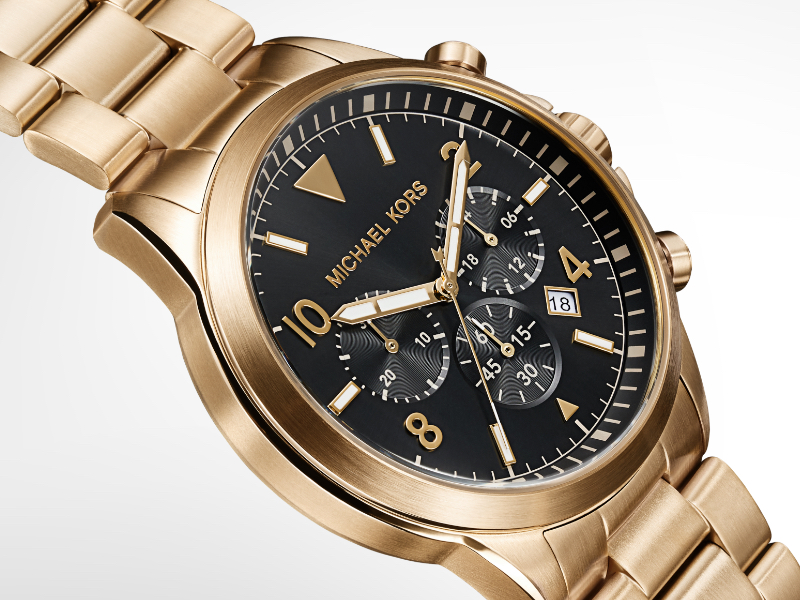 Black and Gold Michael Kors watch for men