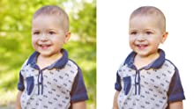 adjust the kid image to be brighter with photoshop