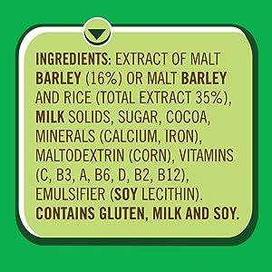 nestle milo chocolate malt powder ingredients