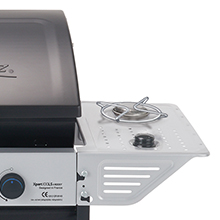Campingaz Xpert 100 LS Plus Rocky Barbacoa Gas para Piedra Volcanica, BBQ gas con 2 quemadores, 7.1kW de potencia, 2 Parrillas de acero cromado, 2 ...