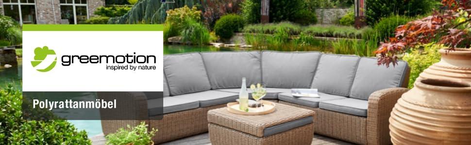 Amazon.de: greemotion Rattan-Lounge Bahia, Sofa & Bett aus