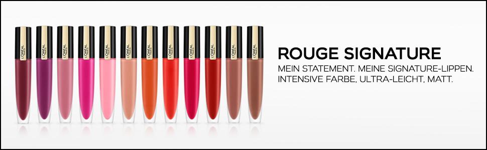 L'Oréal Paris Rouge Signature Range