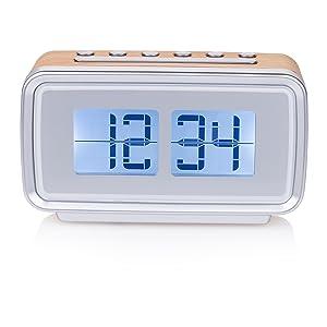 Despiértese siempre a tiempo con el reloj despertador retro Smartwares CL-1474.