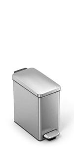 Amazon.com: Bote de basura con pedal abierto simplehuman 10 ...