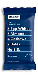 Blueberry bar, protein bar, rxbar, rxbars, protein bars, health bar, protein