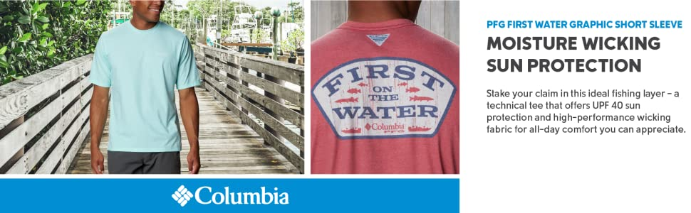 Columbia Men's PFG First Water Graphic Short Sleeve T-shirt