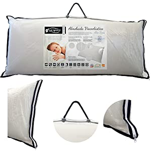 Almohadas Viscoelásticas Aloe Vera San Ignacio Home Descanso Doble funda Transpirable Embalaje