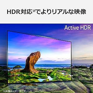 HDR対応でよりリアルな映像