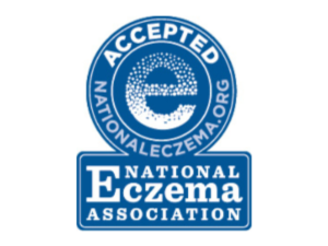 Seal of acceptance for Aveeno Sensitive All Over Wipes from the National Eczema Association,.
