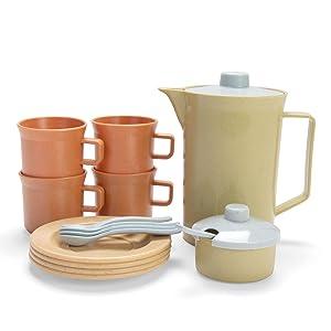 Bioplast koffieservies.