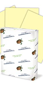Hammermill colors, colored paper, yellow paper, green paper, blue paper