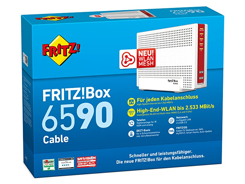 AVM FRITZ!Box 6590 Cable WLAN AC + N Router 5 GHz2,4