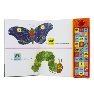 eric carle, very hungry caterpillar, pi kids, kids book, kids toy, childrens book, childrens toy - World Of Eric Carle, Around The Farm 30-Button Sound Book – Great Alternative To Toys For Christmas- PI Kids (Play-A-Sound)