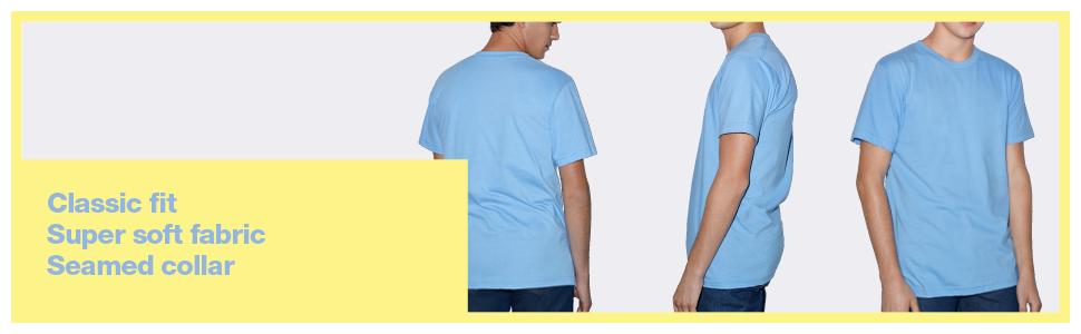 American Apparel, Classic fit, T-Shirt, super soft fabric