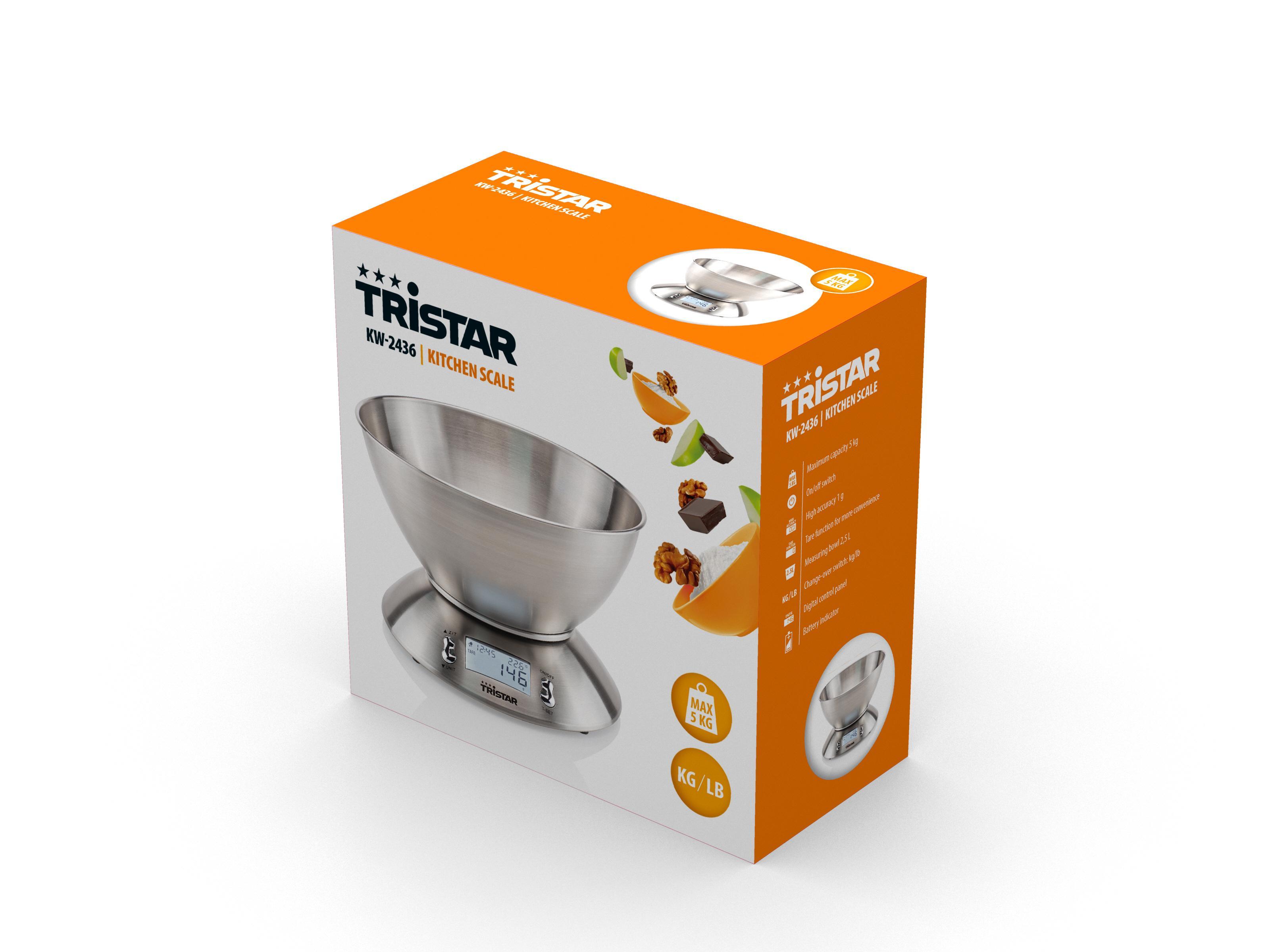 Especialmente cuando se trata de hornear, es esencial pesar todos los ingredientes por gramo. La balanza de cocina digital Tristar KW-2436 es la báscula ...
