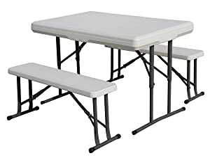 Stansport Heavy Duty Folding Picnic Table And Bench Set