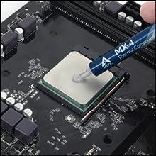 Fácil de aplicar compuesto térmico evitar espacios de aire entre la CPU y el refrigerador