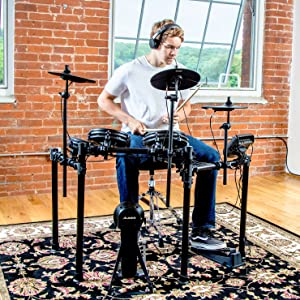 Alesis Drums Nitro Mesh Kit Eight Piece All-Mesh Electronic Drum Kit With Super-Solid Aluminum Rack